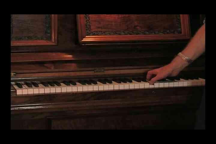 Der Bassschlüssel & Violinschlüssel auf dem Klavier