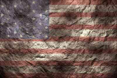 Wie zu Antike eine amerikanische Flagge