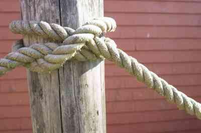 Wie zu Binden, der Gaucho Knoten