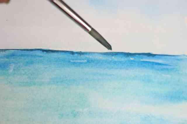 Wie zu Malen einen Strand-Szene