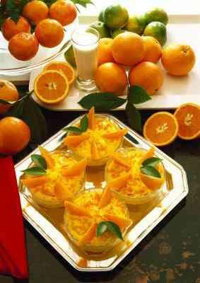 Anzeige Orangen auf einen Obstteller