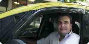 Ein Taxi Taxifahrer zu werden