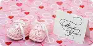 Babyparty Dankeschön-Karten zu schreiben