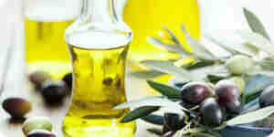 Eingeflößte Olivenöl machen