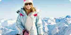 Kleid für Skifahren