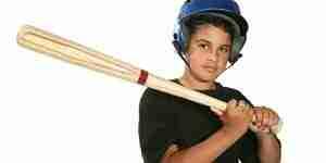 Machen Sie einen hölzernen Baseballschläger